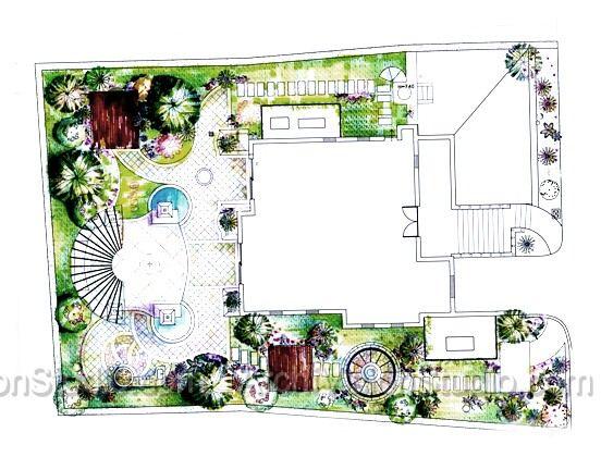 Residential landscape design drawings for Landscape floor plan