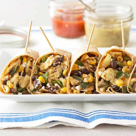 With protein-filled black beans plus corn, these Breakfast Burritos ...
