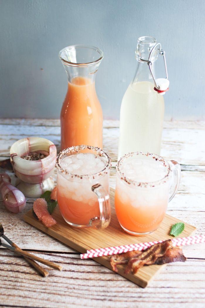 salty dog cocktails with bacon-vodka | mom de cuisine
