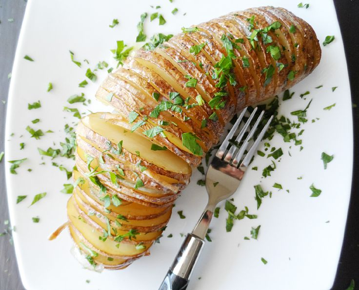 Hasselback Potato with Shallot | Recipes | Pinterest