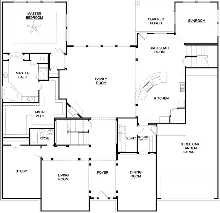 This Is My Favorite Floor Plan Love The Open Kitchen Living Room