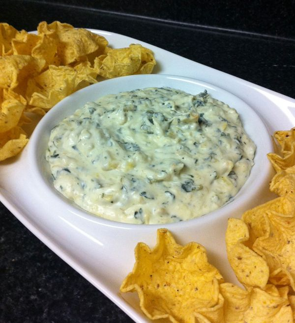 Spinach and Artichoke Dip #healthy #dip #recipes http://www.eat ...