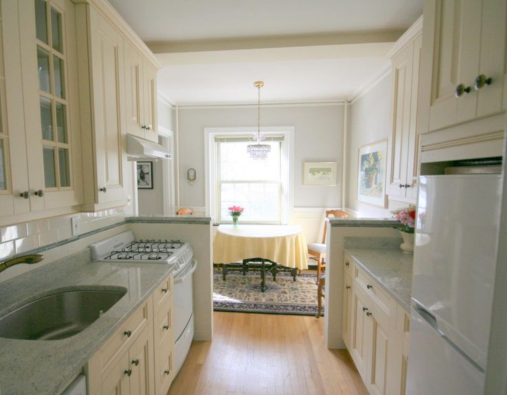 White galley kitchen white kitchens ivory kitchens for White galley kitchen pictures