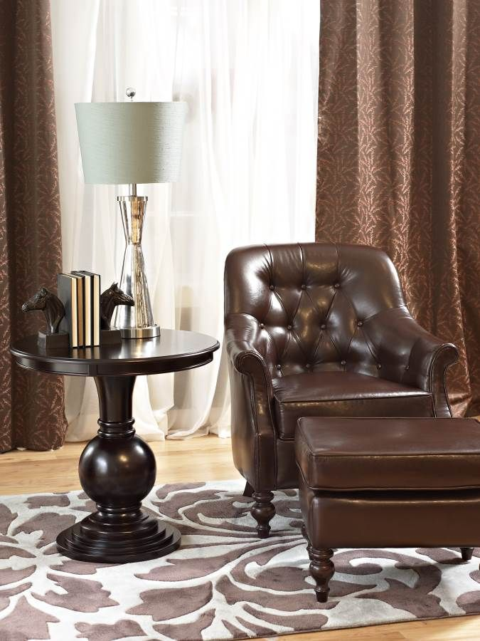 Accent Table is a great chairside or bedside #table. Features a round ...