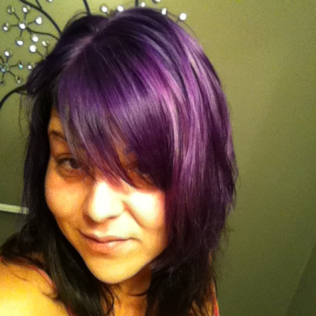 Purple Haze Manic Panic On Bleached Hair - adish.info