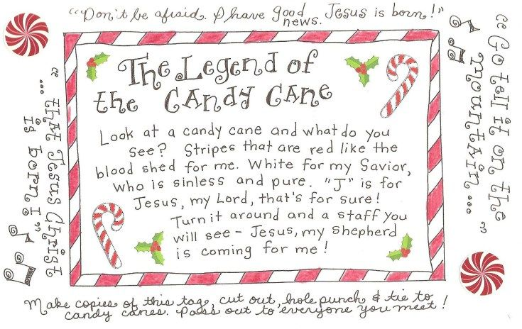 The Legend of the Candy Cane – FREE Printable Tag! | Happy Home ...