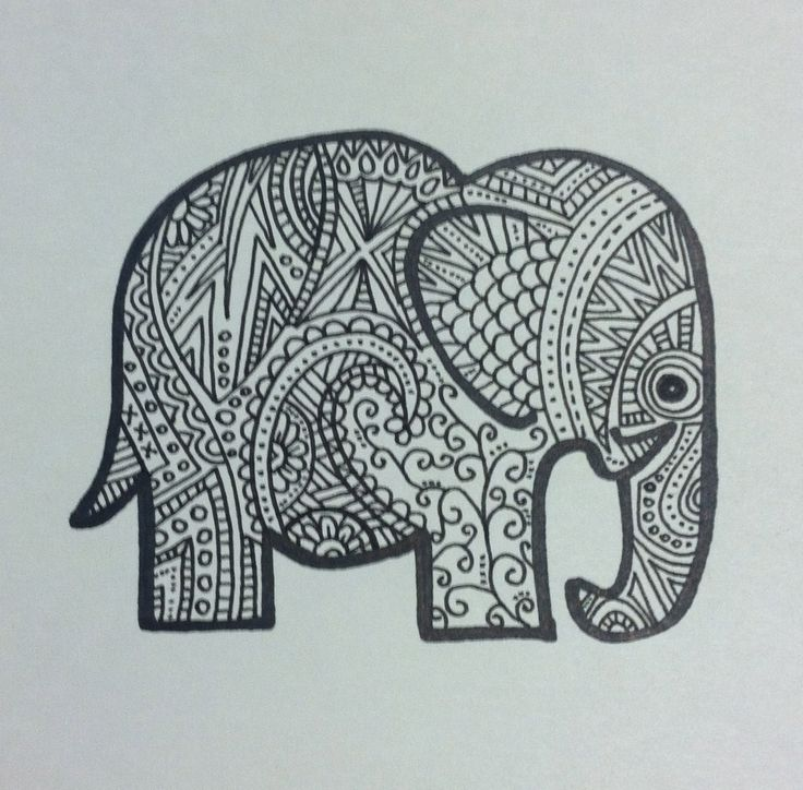 Easy Elephant Drawing Tumblr