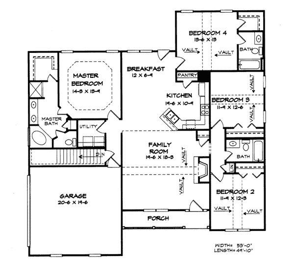 floor plan 1800 sq ft home sweet home pinterest