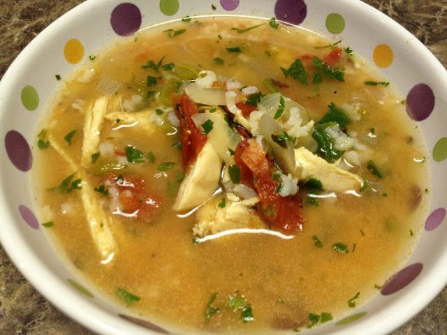 One Sassy Chef: Green Chile Chicken Soup with Lime (5 P+)