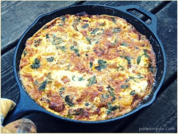 Butternut Squash & Sausage Fritata - Would be good with spinach too.