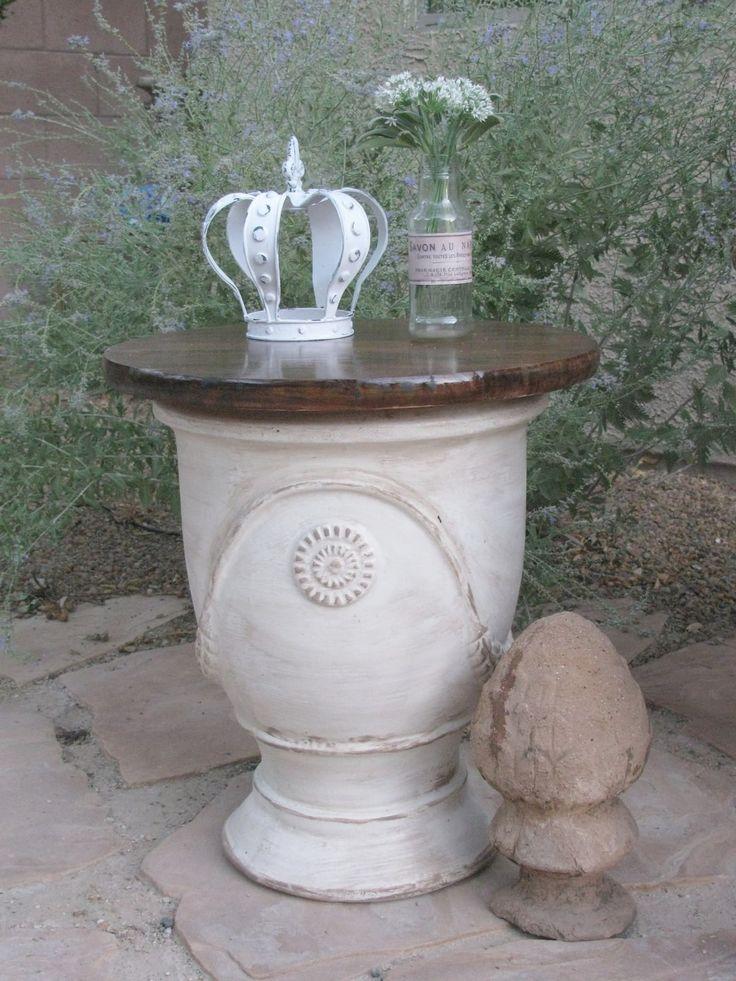 large garden pot table 39 s pinterest