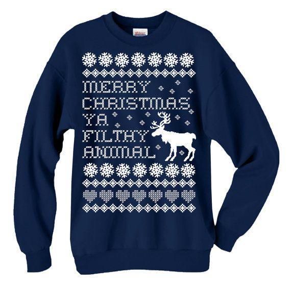 Merry Christmas You Filthy Animal Home Alone Ugly Christmas Sweater