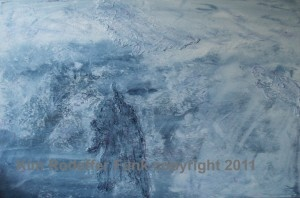 "Weathering the Storm 36"" x 24"" acrylic. Artist Kim Rodeffer Funk"