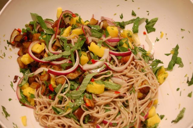 Soba Noodles With Eggplant And Mango | Foto Artis - Candydoll