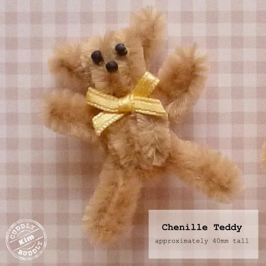 chenille stick pipe cleaner teddy bear crafts for kids
