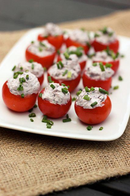 Kalamata Olive & Goat Cheese Stuffed Cherry Tomatoes by Tasty Yummies ...