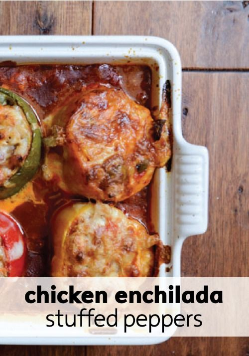 ... with these amazingly delicious chicken enchilada peppers for dinner