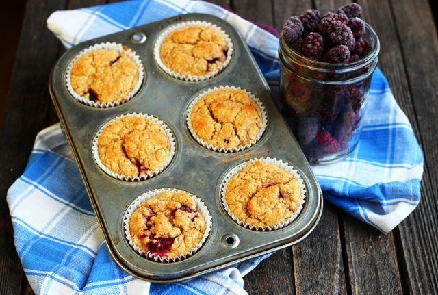 Marionberry-Blackberry Corn Muffins (Gluten-free)