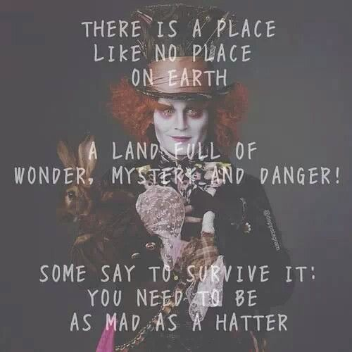 alice in wonderland mad hatter crazy quote
