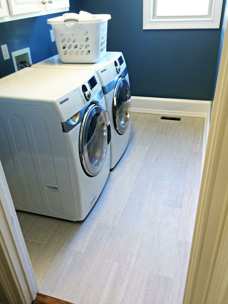 laundry room tile planks plus warm gray grout from mapei