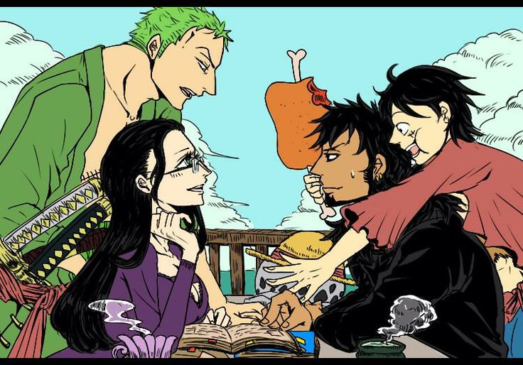 Zoro and robin law and luffy zoro x robin pinterest - One piece luffy x robin ...