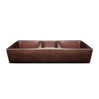 Whitehaus Collection WH5319COFCT-O Triple Bowl Undermount Sink