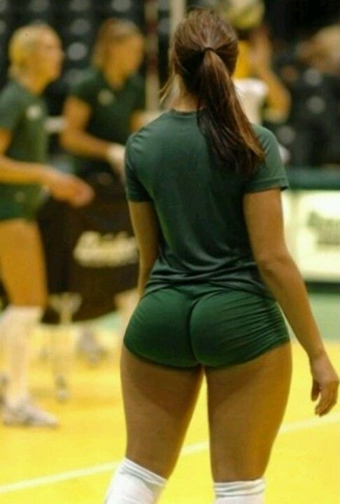 Big ass in volleyball shorts