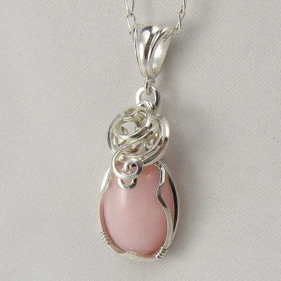 Pink Opal Necklace Little Treasures Pinterest