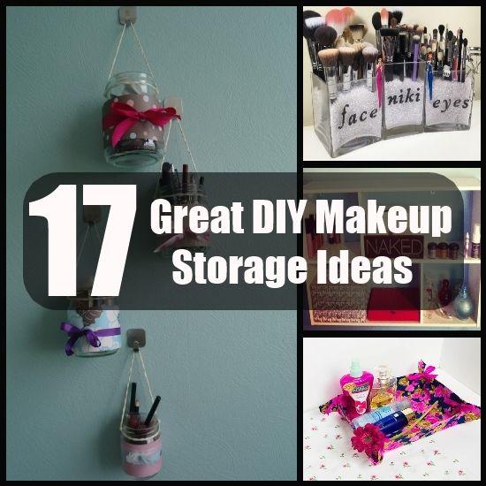 17 DIY Makeup Storage Ideas Beauty Skin Pinterest