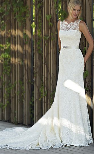 Simple Yet Stunning Wedding Dresses : Wedding dress lace