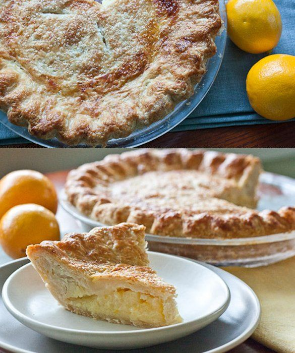 Shaker Lemon Pie recipe with a flaky butter crust and lemon filling