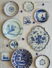 ciao! newport beach: a collection of blue and white plates