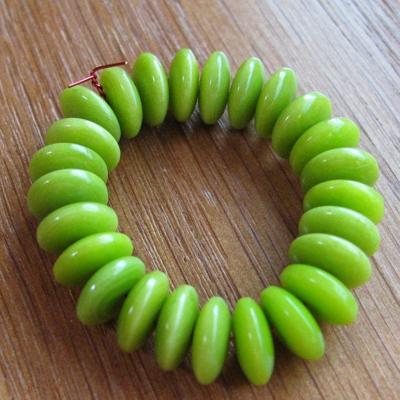 25 Lime Green Tagua Nut Beads 8mm Beads Rondells by EcoBeadsTagua, $4 ...