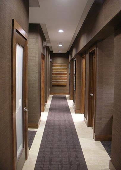 Hallway antonio martins design dental office pinterest for Office hallway design
