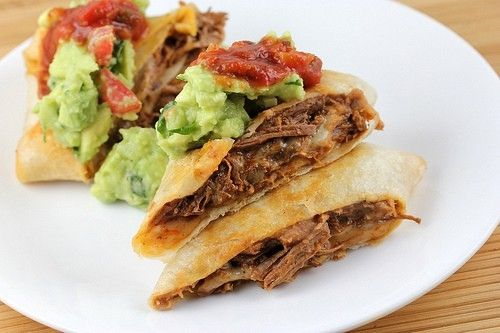 Beef chimichangas by PaulaBoron   Meal Ideas   Pinterest