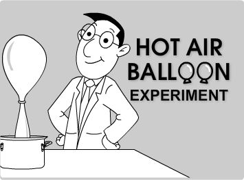 experiment on hot air balloon The operation of a hot air balloon depends on charles' law, the ideal gas law, and archimedes' principle the operator first ignites a propane burner to fill the.