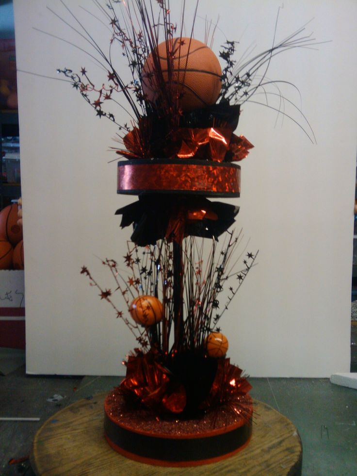 Basketball centerpiece ideas pictures to pin on pinterest