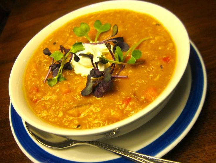 Moroccan red lentil soup is a quick, easy, weeknight favorite ~ #food ...