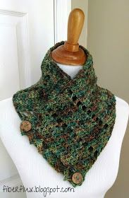 3 Button Crochet Cowl Pattern - A Crafty House | Knit and