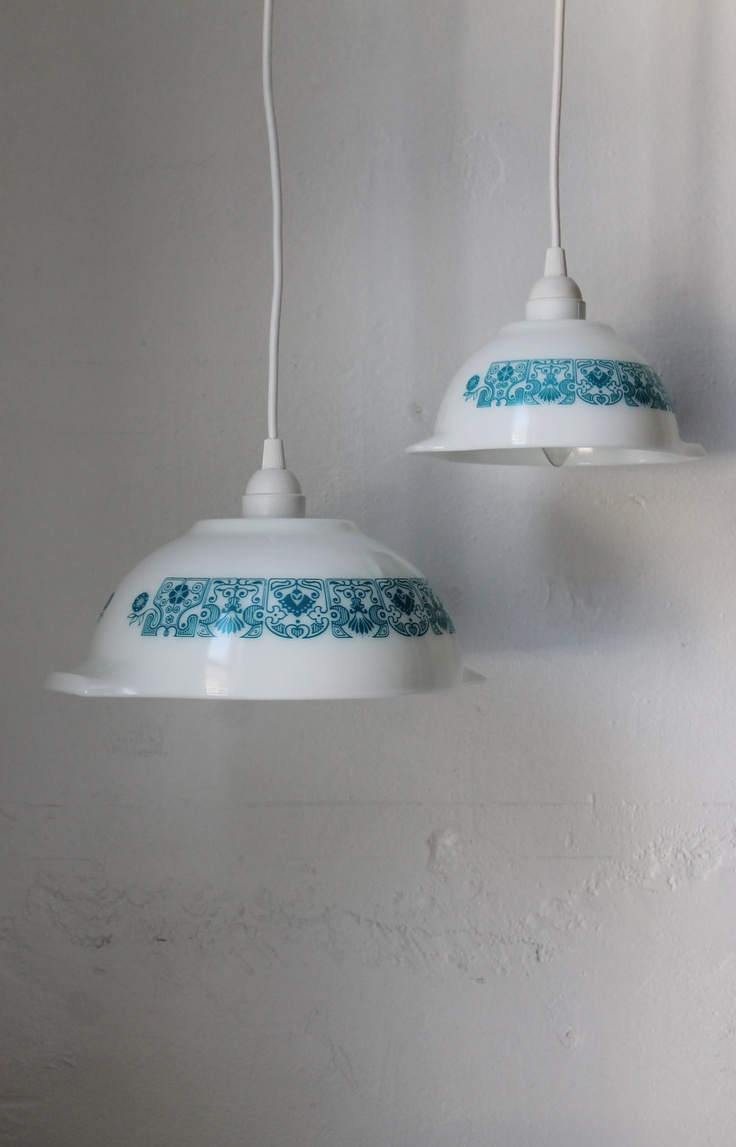 Horizon Blue PYREX Pendant Light