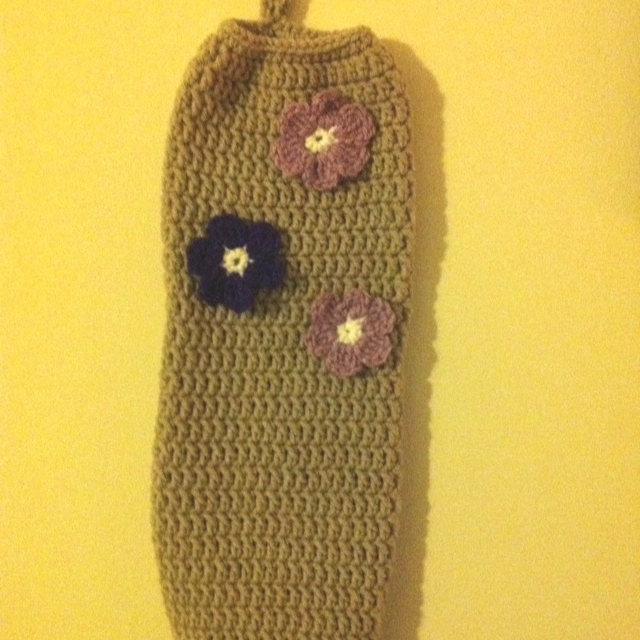 Grocery Bag Crochet : Crocheted plastic grocery bag holder Crochet Pinterest