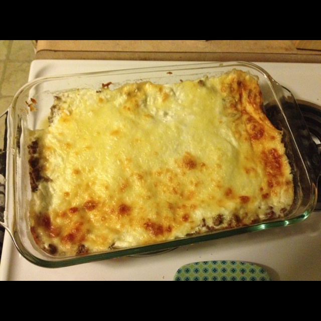 Egg white/cottage cheese/turkey sausage/cheese breakfast casserole