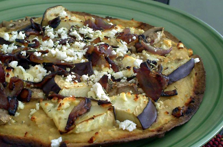 crust pizza with roasted eggplant peppers recipes potato crust pizza ...