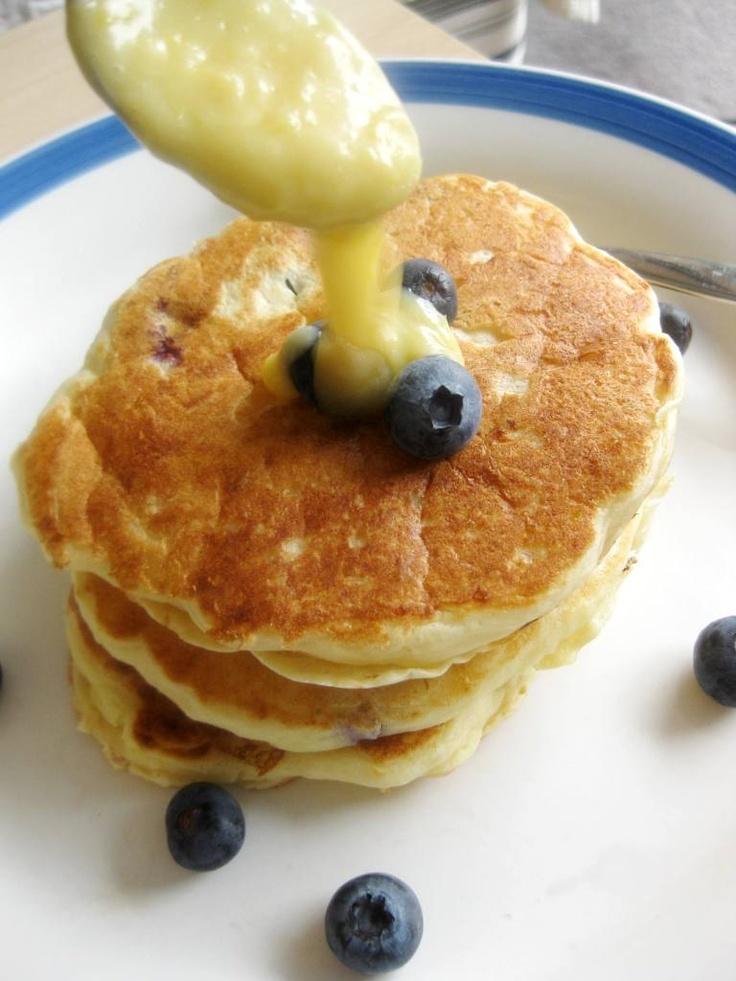 Lemon Blueberry Ricotta Pancakes   brilliant breakfasts   Pinterest