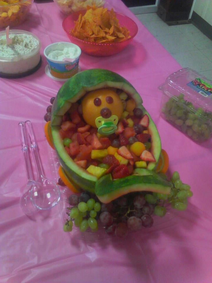 watermelon fruit bowl for a baby shower
