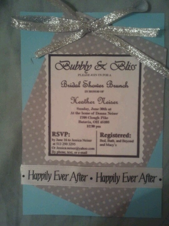 My handmade bridal shower invitations for my sister. 2 types of ...