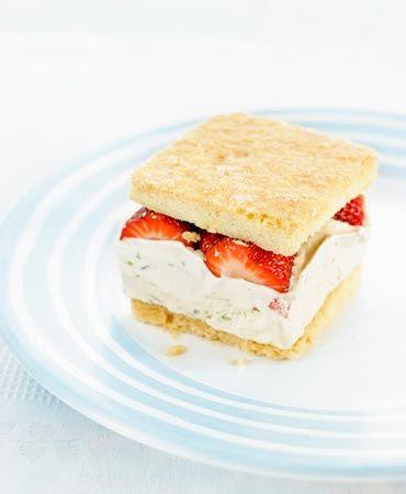 Strawberry And Pistachio Ice-Cream Cake Recipe — Dishmaps