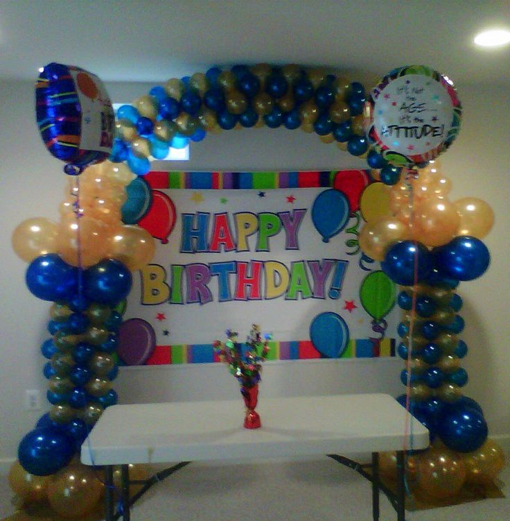 Nanisetc 40th birthday balloon arch balloon decorations for 40th birthday decoration