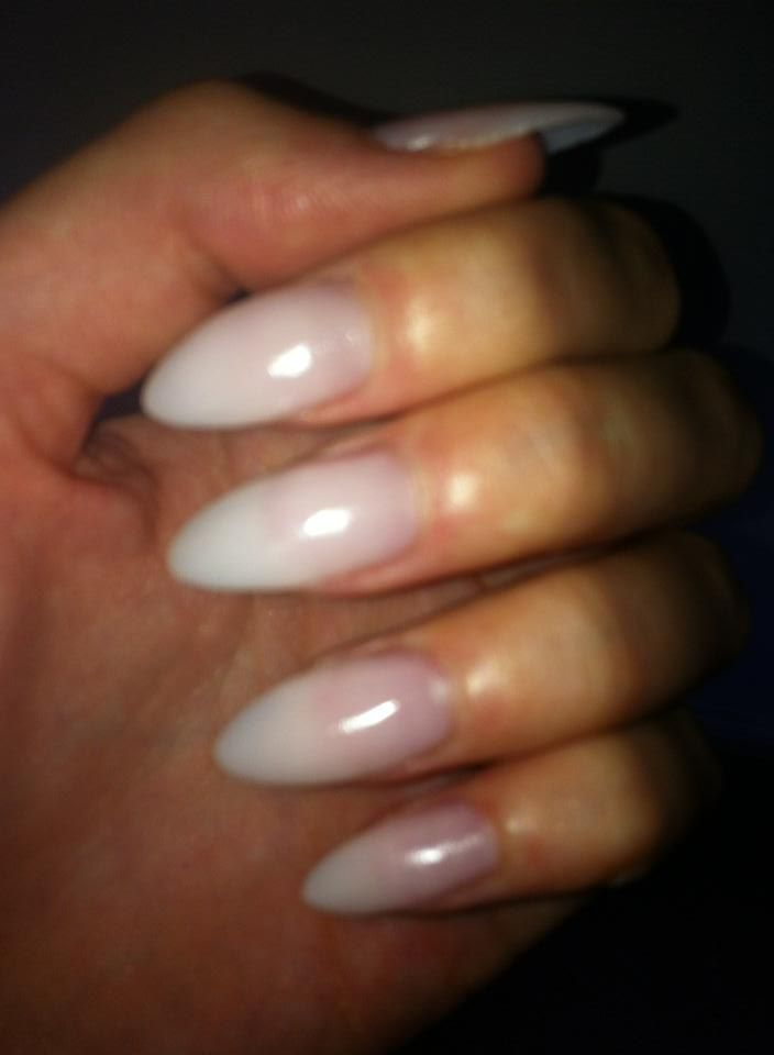 natural stiletto acrylic nails nails by sally la belle