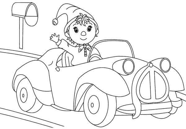 Noddy coloring pages car interior design - Melissa oui oui ...